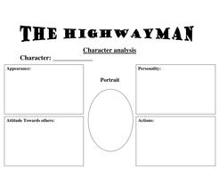 the highwayman character description