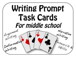 Writing Prompt Task Cards ~ Argument, Narrative