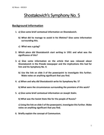 Shostakovich's Symphony No  5 Worksheets & Questions
