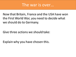 how was germany treated after ww1