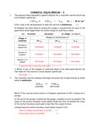 Chemistry: Dynamic equilibrium