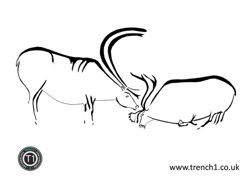 Cave Painting Colouring Sheets 2 By Trench 1