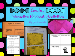 Genetics Science Interactive Notebook Resources & Foldables