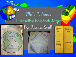 Plate Tectonics Science Interactive Notebook Resources & Foldables