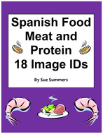 18 Spanish Food Unit Meat and Protein Vocabulary IDs