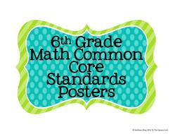 6th Grade Math Common Core Posters- Rainbow Star Print