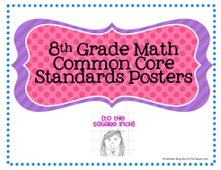 8th Grade Common Core Math Standards Posters Rainbow Stars By