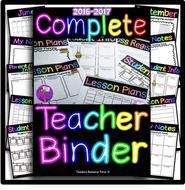 complete editable teacher planner 2016 2017 by teachersresourceforce