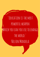 Nelson Mandela Quote Poster By Islaflood Teaching Resources Tes