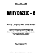 DAILY DAZZLE C (6th Grade) FREE LESSON - BELL RINGER PRODUCT FOR