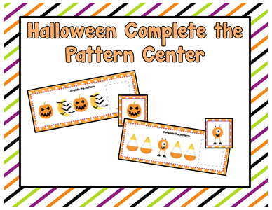 Halloween Resources: Complete the Pattern Center