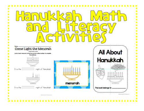 Holiday Celebrations: Hanukkah Math and Literacy Activities