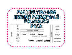 Multiply And Divide Monomials Worksheet - Rcnschool