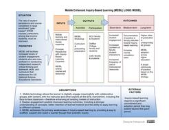 MEIBL Logic Model