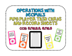 Operations with Decimals Technology Task Cards