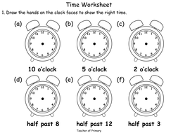 Beginning to Tell the Time - animated PowerPoint teaching resource ...