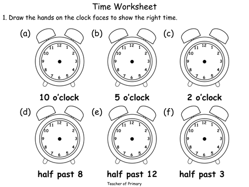 Time Worksheets Pdf : Beginning to tell the time animated powerpoint teaching