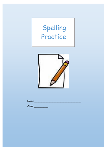 spelling practice worksheets booklet year 3 and 4 national curriculum word lists by krazikas. Black Bedroom Furniture Sets. Home Design Ideas
