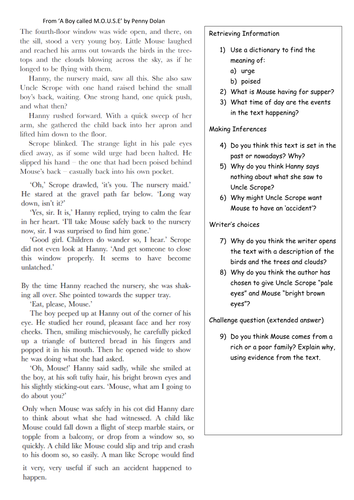 Printables Comprehension Worksheets For Grade 5 reading comprehension year 5 6 by klbgreen teaching resources tes