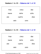 Spanish Numbers 1 to 10 Worksheets and Activities by ...
