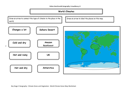 Key Stage 2 Geography: Climate Zones and Vegetation Unit of Work by ...