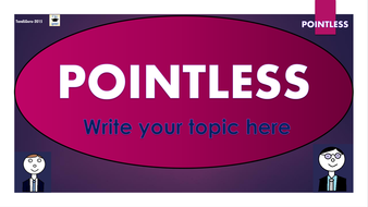 Pointless - Template to Create Your Own Games!