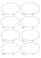 Child observation template stickers EYFS by TeachSmarter