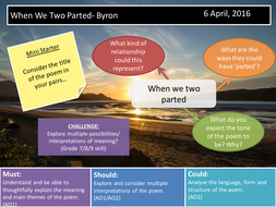 When We Two Parted- Byron