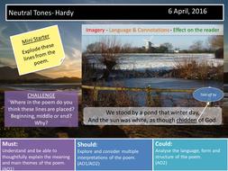 Neutral Tones- Hardy
