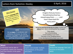 Letters from Yorkshire- Dooley