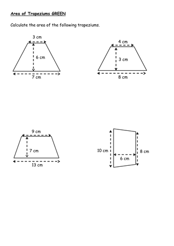 Area of compound shapes, triangles, parallelograms and trapezium ...