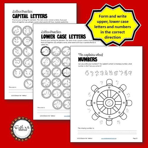 handwriting worksheets for 7 11 years pirates ks1 ks2 by enablememethod uk teaching. Black Bedroom Furniture Sets. Home Design Ideas