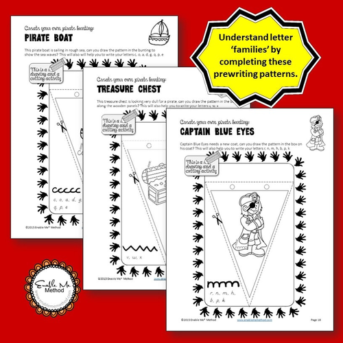 cursive handwriting worksheets for 7 11 years pirates ks1 ks2 by enablememethod uk. Black Bedroom Furniture Sets. Home Design Ideas