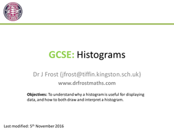 GCSE Histograms by DrFrostMaths - Teaching Resources - Tes