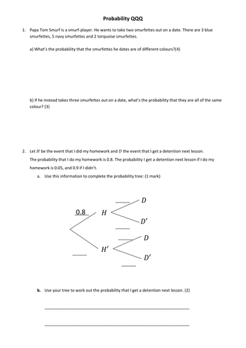 GCSE Probability by DrFrostMaths - Teaching Resources - Tes