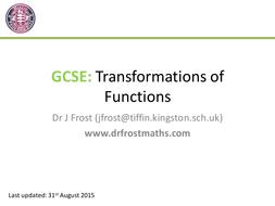 GCSE - Transformations of Graphs