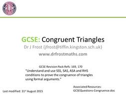 GCSE - Congruent Triangle Proofs
