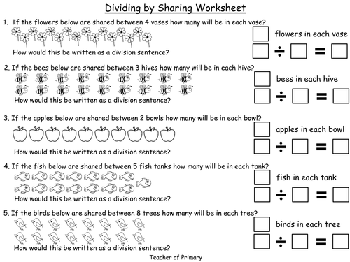 Dividing by Sharing - PowerPoint presentation and worksheets by ...