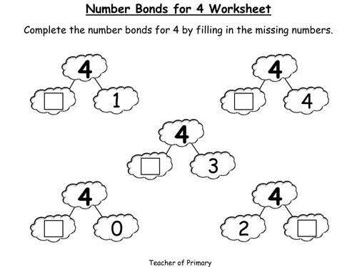 1st Grade Number Bond Worksheets 1st Grade Free Printable – Number Bond Worksheet