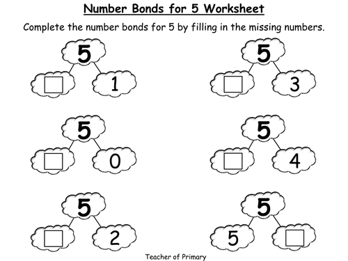 Number Bonds The Story of 5 Animated PowerPoint Presentation – Number Bonds Worksheets