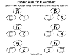 Number Bonds - The Story of 5 - Animated PowerPoint Presentation and  Worksheet