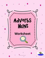 Adverbs Hunt Worksheet