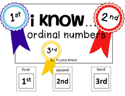 ORDINAL NUMBERS: 1st, 2nd, 3rd, Adapted Book Special Education Autism