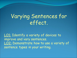 Varying Sentences and Types