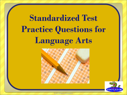 TEST PREP Language Arts Standardized Test Practice PowerPoint
