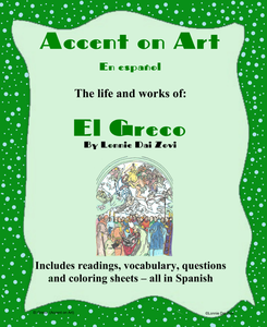 Featured Author Lonnie Dai Zovi El Greco Accent on Art Packets For The Spanish Classroom