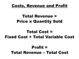 GCSE Edexcel Business Unit 1 and 3 Formula by tashycxx