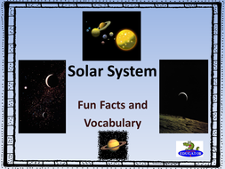 Solar System and Space Vocabulary PowerPoint
