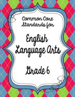 Get Organized! 6th Grade Common Core ELA Binder Organizer & Tracker