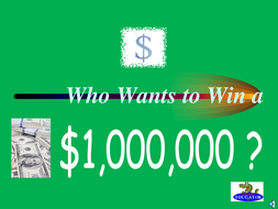 Who Wants to Win a Million Dollars Language Arts PowerPoint Game